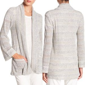 BB Dakota Open Front Knit Cardigan Size XS Gray
